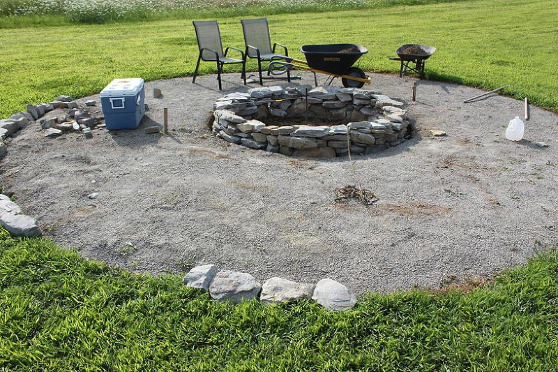 cheap fire pit beauty and style within affordability fire pit landscaping ideas design. Black Bedroom Furniture Sets. Home Design Ideas