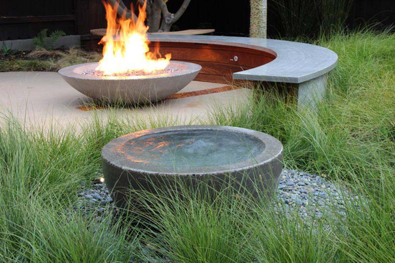 Keep Strong With Concrete Fire Pit Fire Pit Landscaping