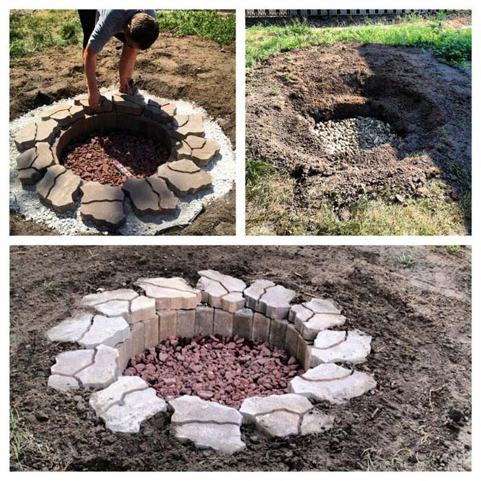 39 Diy Backyard Fire Pit Ideas You Can Build: Begin The New Year In Ground Fire Pit Party!