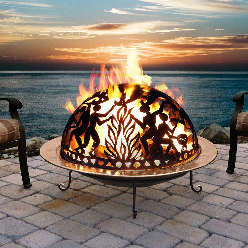 Large fire pit means a large party! | Fire Pit Landscaping ...