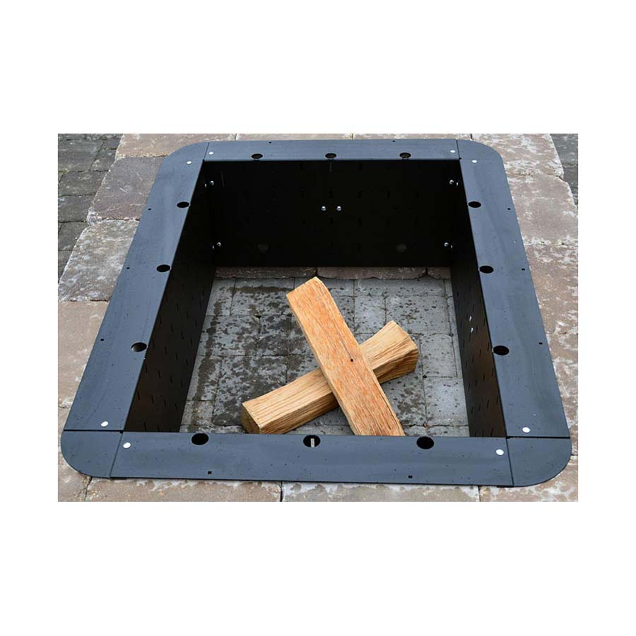 Square Fire Pit Provides Stylish Look And Pleasant Warmth