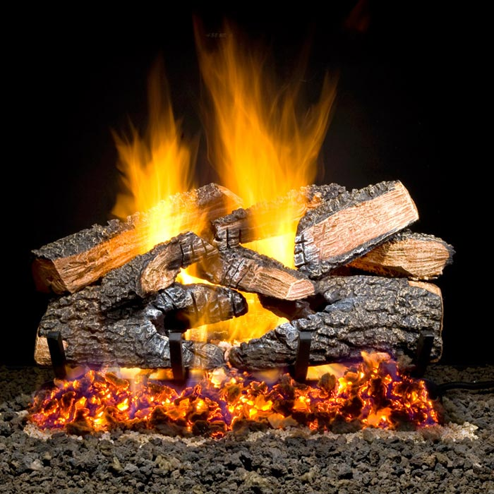 Gas Fireplace Embers Add Natural Attractive Look To Your Gas Logs | Fire Pit Landscaping Ideas ...